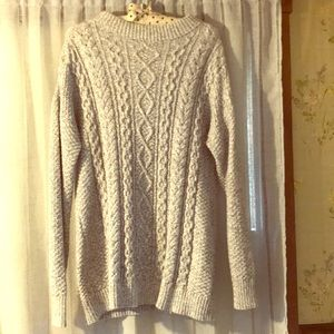 Grey old navy cable knit sweater